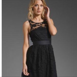 BB Dakota Black Dress Fit Flare Lace Sleeveless 6